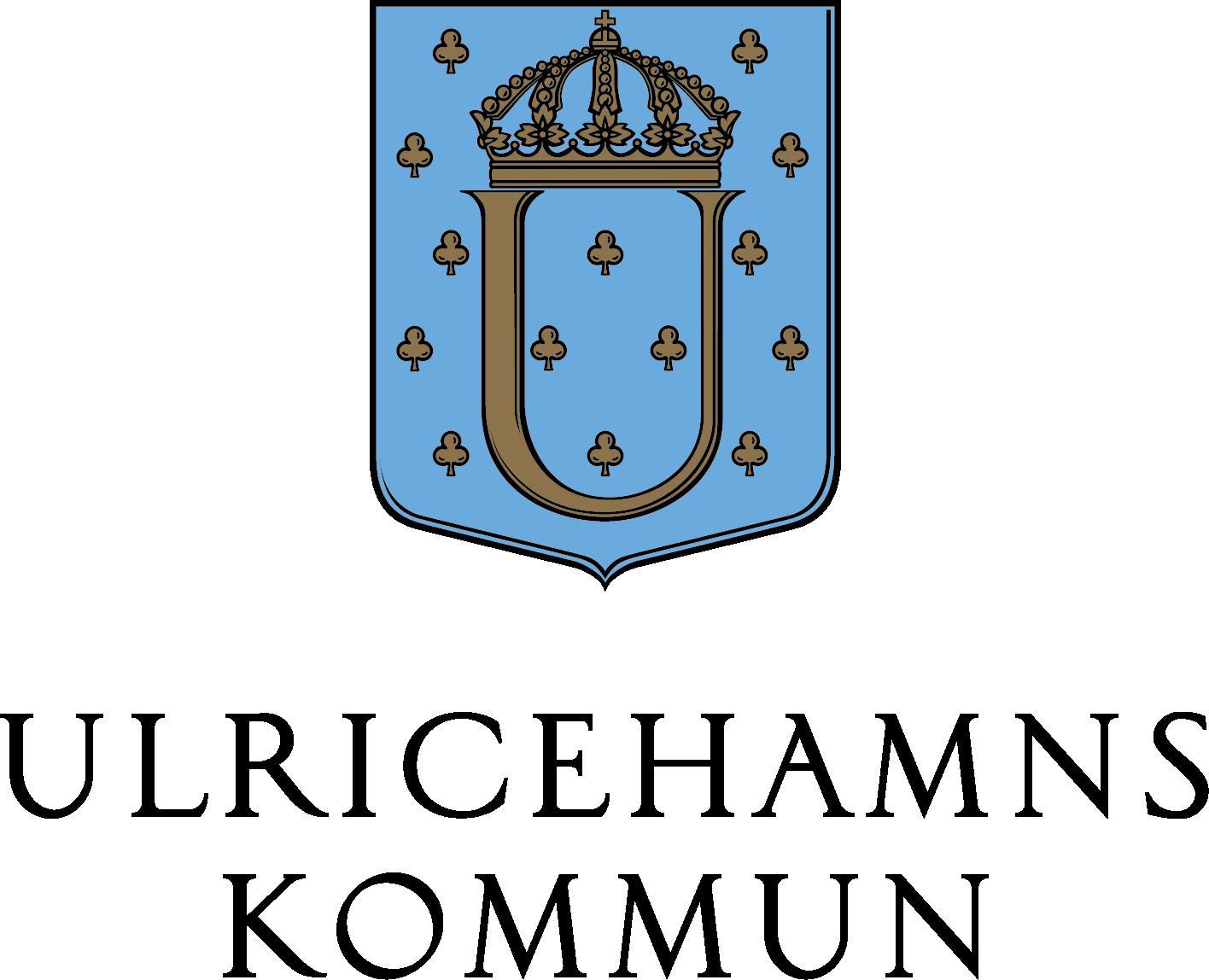 Ulricehamns kommuns logotyp - stående svart text